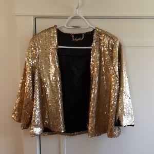 Gold sequin Baby Phat jacket